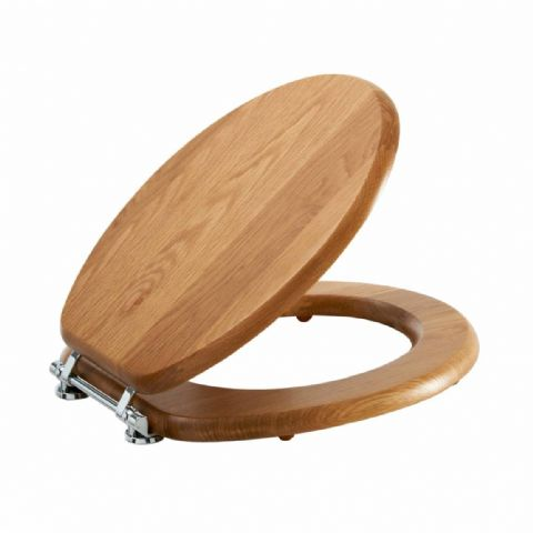 Luxury Pippy Oak Effect Toilet Seat